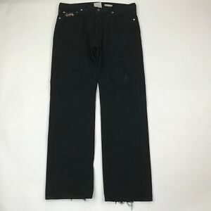 Polo Ralph Lauren Men Classic 867 Black Embroidered Jeans 34x32 (Actual 36x33)