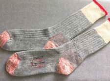 Vintage Wool Work Socks Reinforced with Nylon NOS Red Stripe