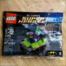 LEGO 30303 DC Comics THE JOKER BUMPER CAR Super Heroes 47 PCS Batman Polybag NEW