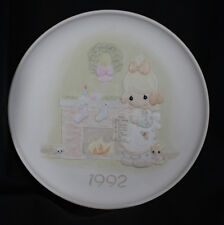 Vintage Precious Moments Plate Christmas Blessings 1992 Greatest is Love Santa