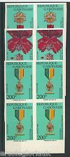 GABON - Yvert 724 / 726  IMPERF in  blocks of 4 MILITARY DECORATIONS Medals 1992