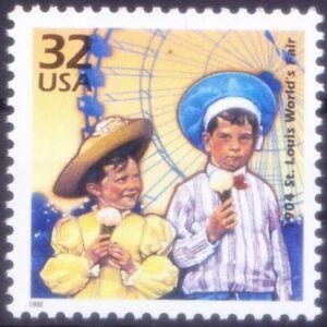 1904 Ice cream Cone became popular, Historic Event, Millennium, USA 2000 MNH