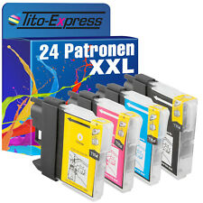 24x cartuchos ProSerie para Brother dcp-j125 dcp-j315w dcp-j515w mfc-j220 lc-985