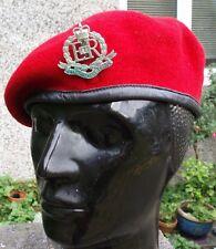 59 L ROYAL MILITARY POLICE Beret +Badge Hat Genuine British Army Red Cap RMP