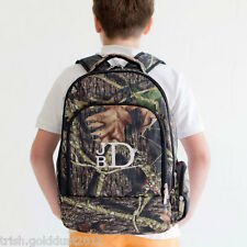 CAMO WOODS CAMOUFLAGE BACKPACK - WITH FREE MONOGRAM PERSONALIZATION