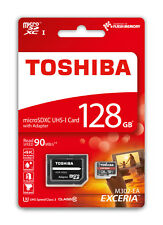 MICRO SD 128GO SDHC TOSHIBA EXCERIA CLASSE 10 UHS-3 AUTENTICO 128 GO 128GB GB