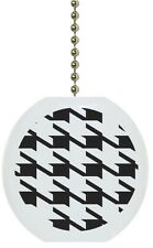 Black Houndstooth Solid Ceramic Ceiling Fan Light Lamp Pull