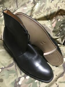 BRITISH ARMY ISSUE BLACK MILITARY LEATHER PARADE GEORGE BOOTS! SIZE 8 L! NEW
