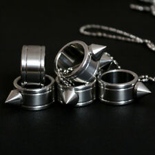 Stainless Steel Self Defense Spike Finger Knuckles Tool Ring Gothic Escape Ring