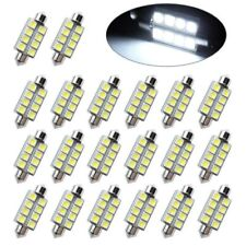 10x Pure White Festoon 42mm 5050 8SMD Led Dome Map Interior Light bulbs 569 578