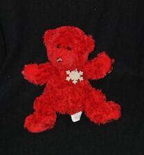 Peluche doudou ours rouge BEAUTY SUCCESS 2008 flocon de neige 24 cm NEUF