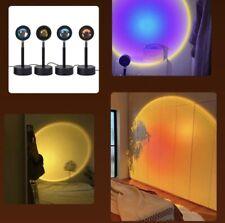 Sunset Projector Lamp Decorative USB Night Lamp. Golden-Hour/Sunset Imitation