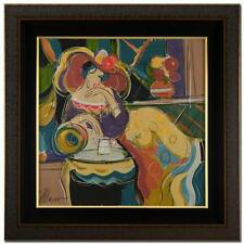 """""""AFTERNOON TEA"""" by ISAAC MAIMON. ORIGINAL ACRYLIC PAINTING ON CANVAS! FRAMED"""