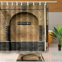 Platform 9 and 3/4 at London's King's Station Fabric Shower Curtain Set Bathroom