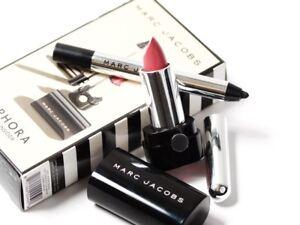 NIB Marc Jacobs Highliner Gel Eye Crayon Eyeliner and Le Marc Lip Creme Lipstick