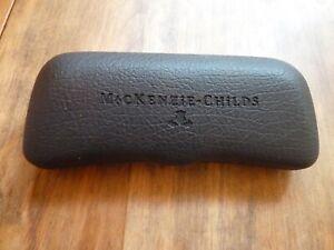"MACKENZIE-CHILDS Eye Glass Black Hard Case6 1/4"" long by 2 1/4"" wide"