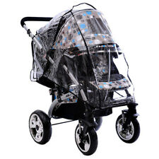 UNIVERSAL PVC CLEAR BABY STROLLER RAIN COVER FIT PRAM CAR SEAT CARRYCOT ANTIDUST