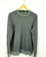 Hugo Boss Mens Grey Wool Blend Jumper Size XL Slim Fit Lightweight