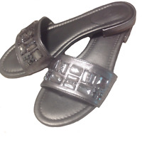 VERA WANG Women's Thong Sandals Size 8 Pewter Hellen Jeweled Medium Simply Shoes