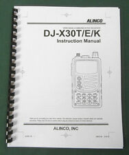 Alinco DJ-X30T Instruction Manual: Comb bound & Protective Plastic Covers