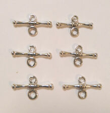 Sterling Silver Fob/T Bar: 6 Pieces