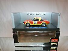 SUN STAR 4942 FIAT 124 ABARTH EAST AFRICAN SAFARI 1974 - RED 1:18 - EXCELLENT