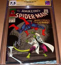 Amazing Spider-Man #44 CGC SS 7.5 SIGNED John Romita Sr Marvel 2nd Lizard 1967