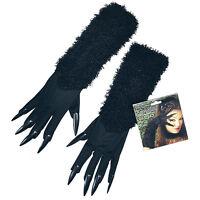 Halloween Negro # Gato Guantes con Uñas para las Señoras Gatito Accesorio