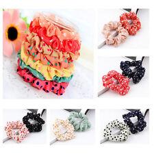10pcs Colorful Elastic Hair Dot Band Rope Scrunchie Ponytail Holder For Girl
