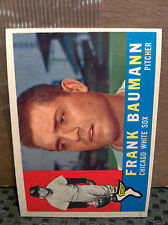 1960 Topps # 306 Frank Baumann ... NM+/NM-MT ... WHITE SOX ...RB-3344