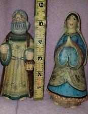 "G.DeBrekht Holy Family #52621 Nativity Series '03 replacement mary & joseph 5.5"""
