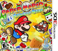Paper Mario Sticker Star for 3ds 5e Very Good