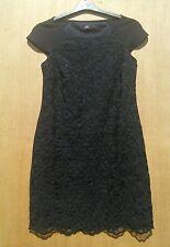 F&F size 8 Black daisy embroidered short shift dress