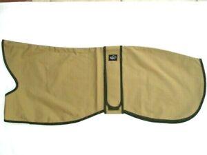 "26"" 28"" 30"" Greyhound Waterproof Rain Mac Coat Beige Outer- Coated Green Lining"