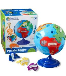 Learning Resources Puzzle Globe Learn Geography Continents Landmarks Ages 3+ uk