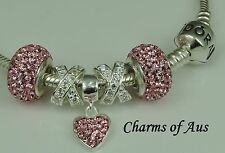 GENUINE Pandora bracelet all sizes + 5 stunning charms. Mother's Day Special