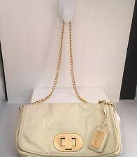 Badgley Mischka Cream Ivory Gold Leather Shoulder Bag/Clutch Wedding