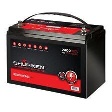 BRAND NEW SHURIKEN BT120 POWER CELL 2400W/120AMP HOURS AGM 12V Starting Battery