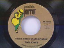 """TOM JONES """"GREEN GREEN GRASS OF HOME / DETROIT CITY"""" 45"""