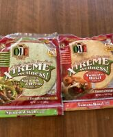 Ole Low Carb Xtreme Wellness Spinach & Tomato Wraps KETO LOW CARB DIET Lot of 4