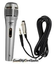 NEW Pyle PDMIK1 Professional Moving Coil Dynamic Microphone +6.5FT XLR/1/4 Cable