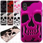 For Apple iPhone X / XS SKULL Hard Hybrid Dual Layer Rubber Case Phone Cover
