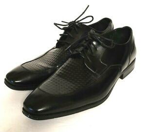 LEATHER SOLES STACEY ADAMS Mens Black LEATHER OXFORDS Size 12 Med EUC