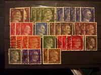 Deutsches Reich Lot Freimarkenserie A.H. - Fundgrube für Poststempel Sammler