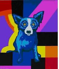"Blue Dog George Rodrigue    ""Rainbow Squares""      MAKE  OFFER    DSS"