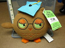 WISE OLD OWL graduation plush gift-card holder w/ tag OOP recordable toy