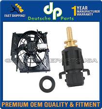 A/C Condenser Fan Motor + Temperature Sensor Coolant Switch 2 for BMW E46 320i