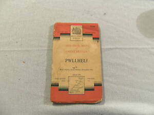 #D3. 1952 MAP OF  PWLLHELI IN NORTHWEST WALES