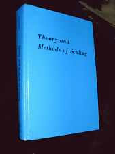 Theory and Methods of Scaling by Warren S. Torgerson (1985, Book, Illustrated)