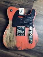 Pistols Crown Guitars Barncaster Telecaster Relic BODY ONLY Pink Basswood